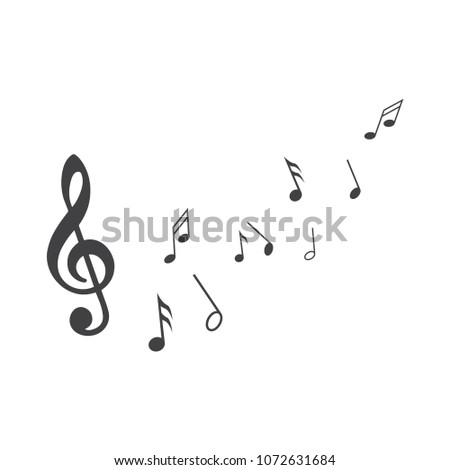 Music notes.Abstract musical background. Vector illustration.Mensural musical notation.Black notes symbols.Note value.Music staff.