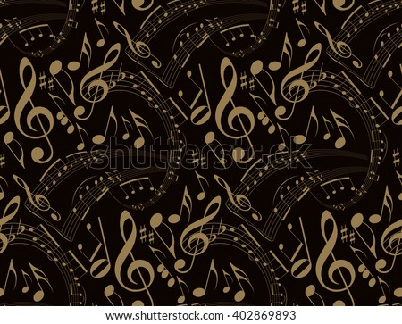 music notes abstract