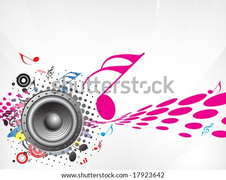 music note wallpaper. stock vector : Music notes