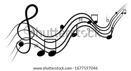 music notes design on white