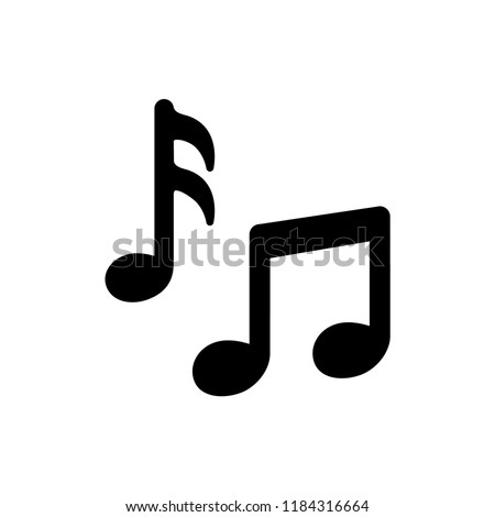 music notes icon vector template