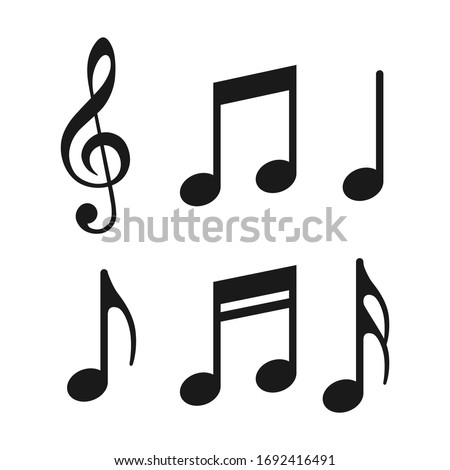 Music notes icons set. Vector illustration. Foto stock ©