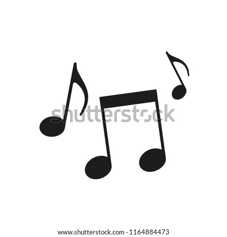 Music notes illustration. Vector. Isolated.