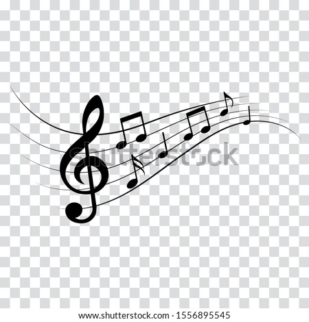 Music notes, musical design elements isolated vector illustration.