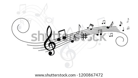 music notes musical notes waves