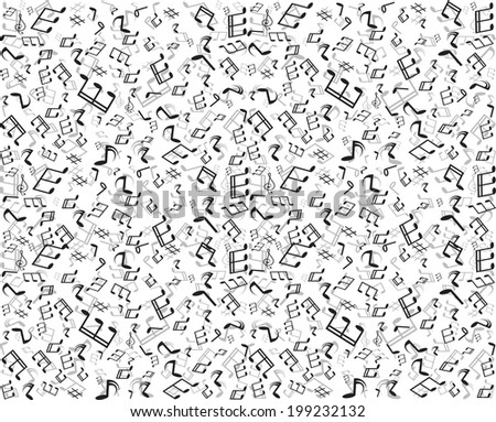 Seamless Free Vector Background With Musical Notes Download Free