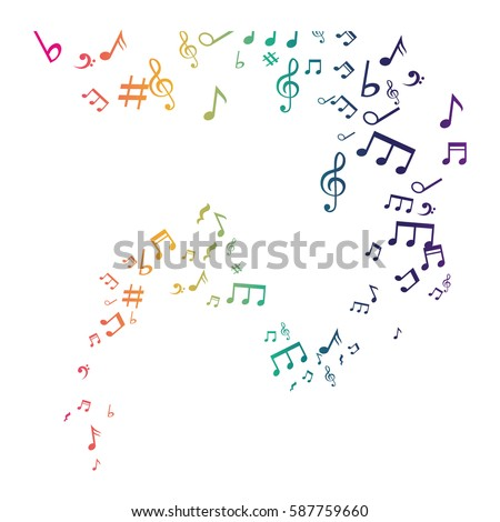 Music notes symbol icon vector illustration graphic design
