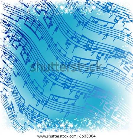 music notes  -  vector background
