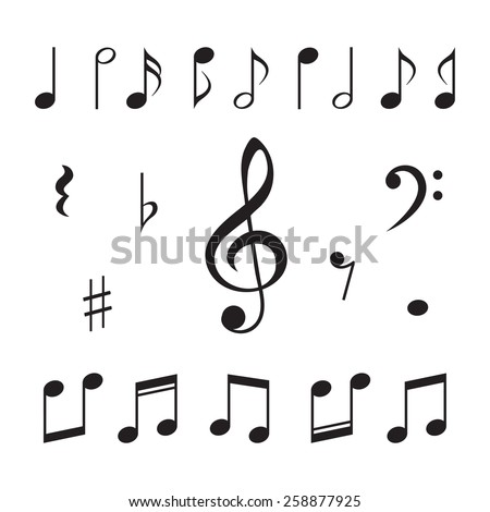 Shutterstock Music notes. Vector illustration.