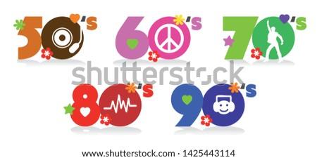 Music of fifties, sixties, seventies, eighties and nineties