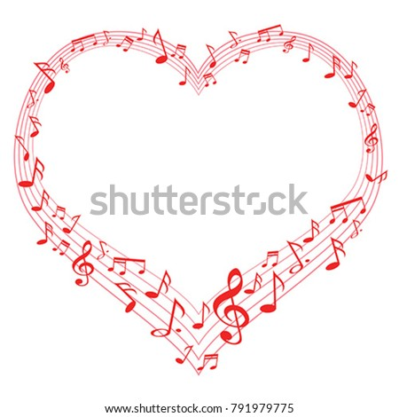 music of love  music notes in