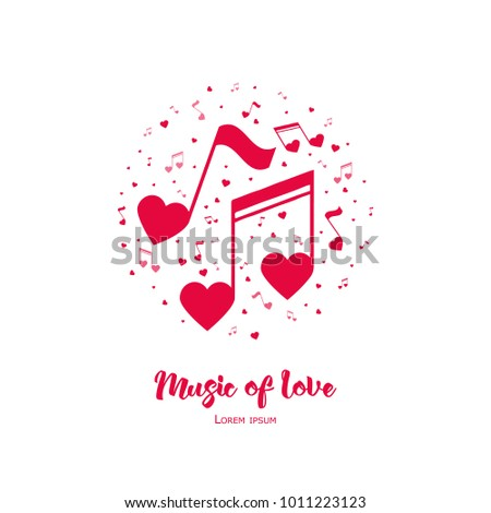 music of love vector
