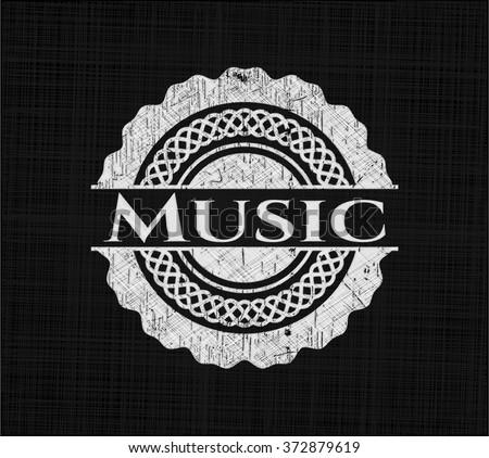 Music on blackboard