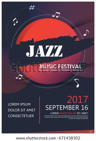 music party jazz band poster