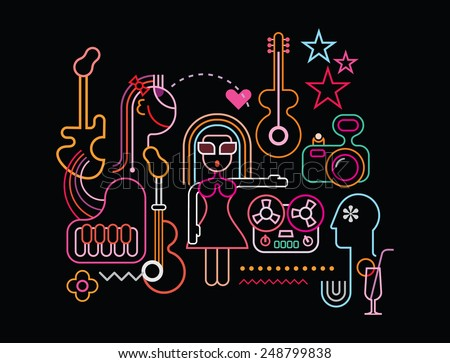 music party vector illustration
