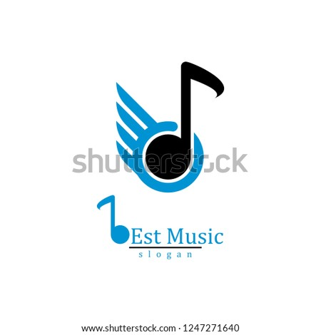 Music Play Bottom Logo Design