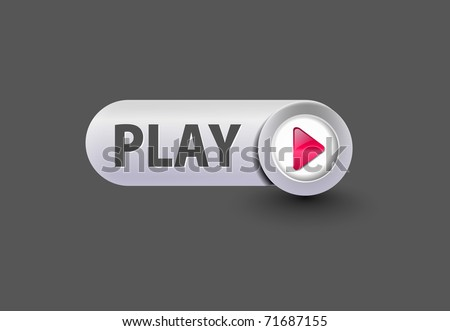 music play button for web design element.
