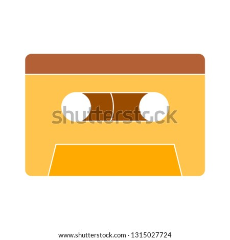 music-player tape icon - music-player tape icon isolated , cassette tape illustration - Vector cassette tape
