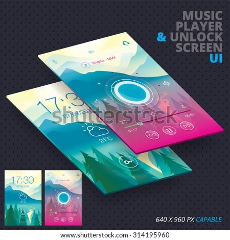 Music Player & Unlock Screen For Iphon, Ipade, Ipode