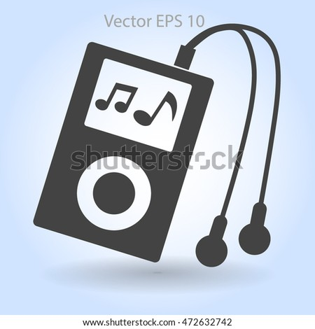 music player with headphones