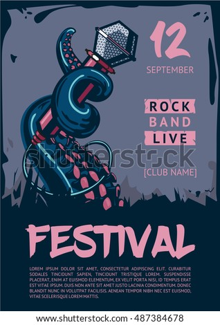 music poster template for rock