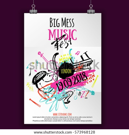 music poster  ticket or program