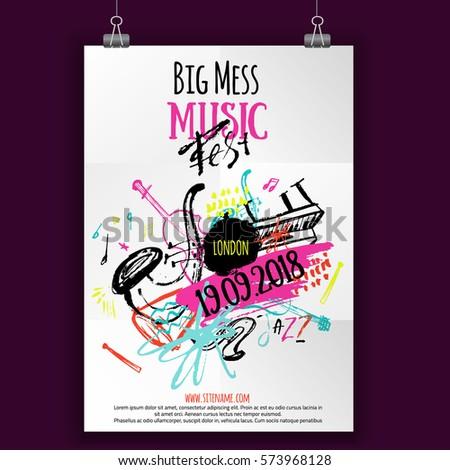 music poster  ticket or program