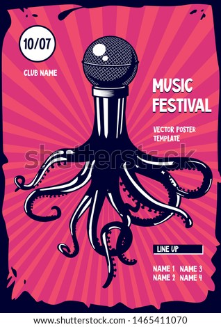 music poster with octopus and