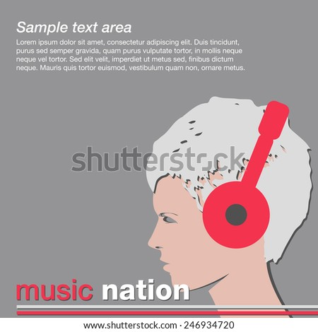 music poster young girl head