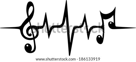 music pulse  notes  vector