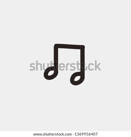 Music Quaver Draw vector icon. Music Quaver Draw concept stroke symbol design. Thin graphic elements vector illustration, outline pattern for your web site design, logo, UI. EPS 10.