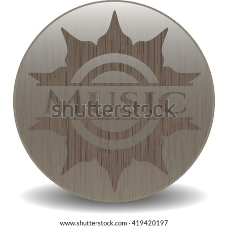 Music realistic wood emblem