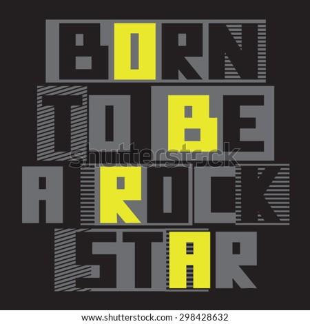 music rock  typography  slogan