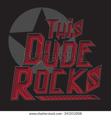 music rock typography  t shirt