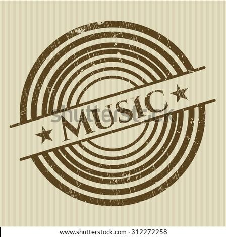 Music rubber grunge seal