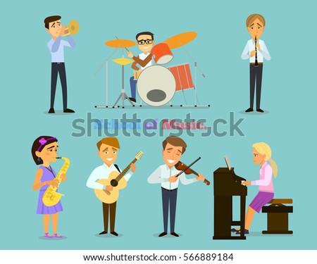 music school a set of figures