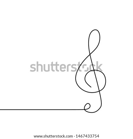 music sign continuous one line