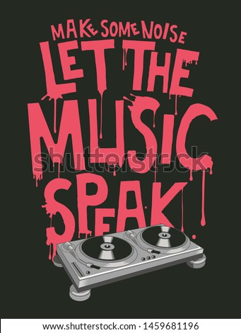 music slogan and poster vector