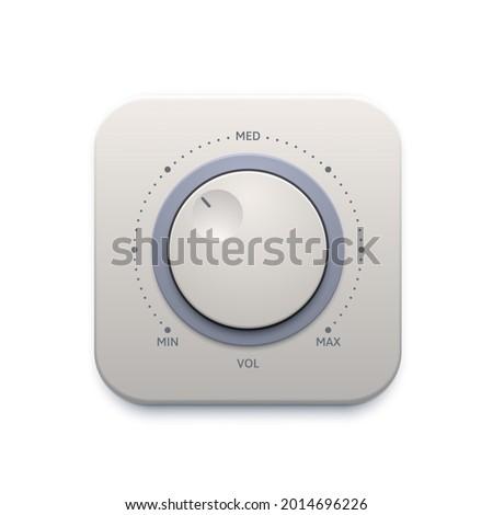 music sound knob button