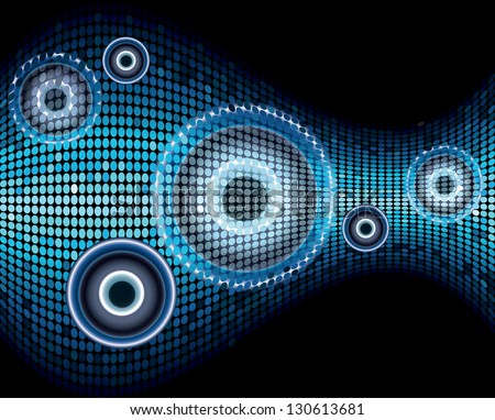 Music sound wave abstract background vector