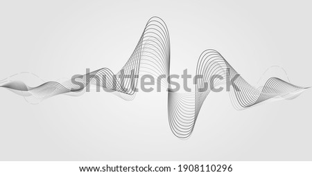 Music soundwave. Earthquake vibrator. Sign of audio digital record, vibration, pulse and music soundtrack. Frequency icon. Vector illustration. Stock photo ©