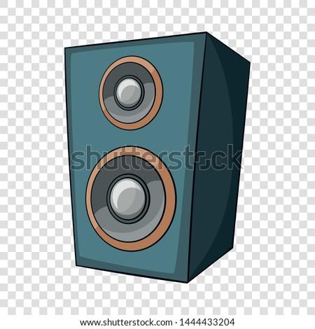 Music speaker icon. Cartoon illustration of music speaker vector icon for web