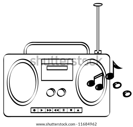Boombox Coloring Pages Related Keywords & Suggestions - Boombox ...