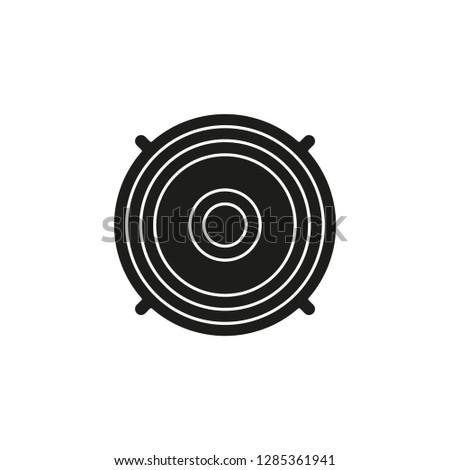 music stereo - vector speaker system, sound equipment illustration