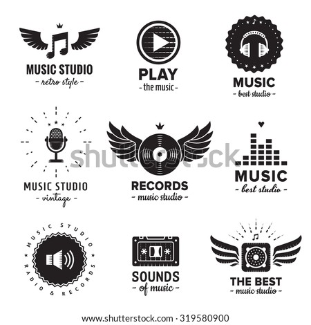 music studio and radio logos