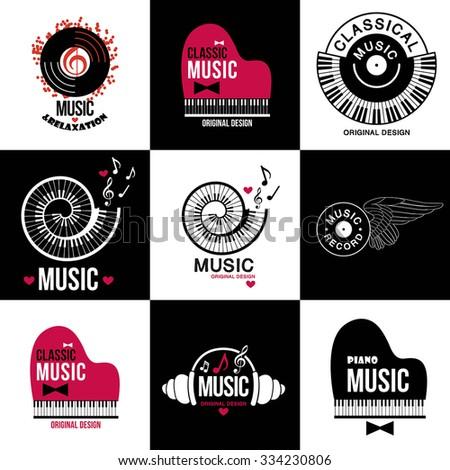 music style logo icon templates
