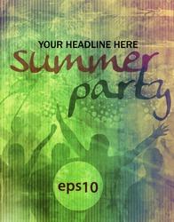Music summer event flyer. Vector eps10 illustration.