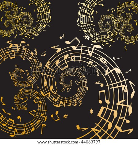 Music swirl - stock vector