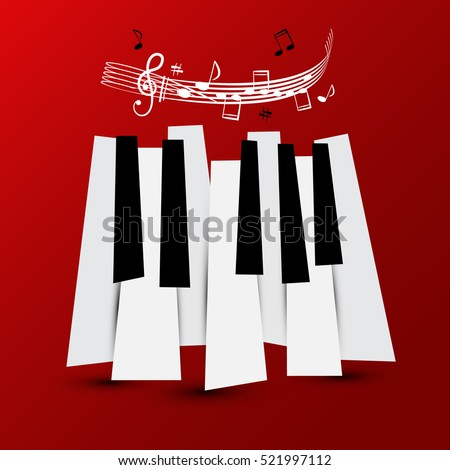 music symbol vector piano keys