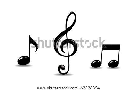 Music symbols - stock vector